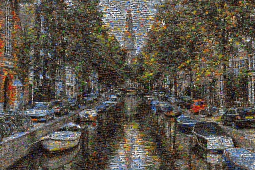 Beautiful Amsterdam Canals Photo Mosaic