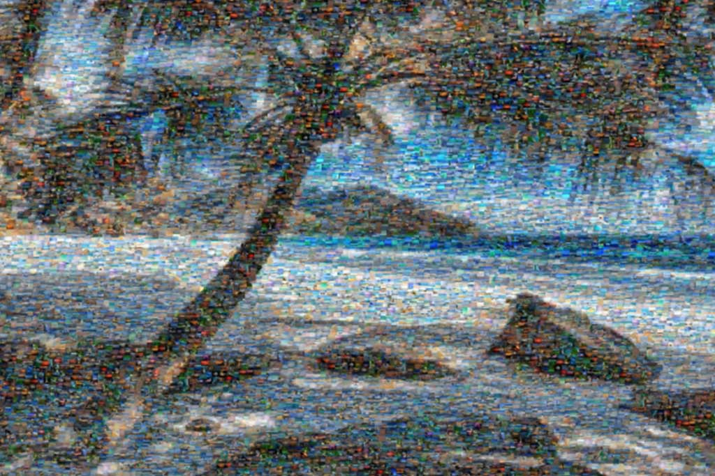Relaxing Beachside Retreat Mosaic