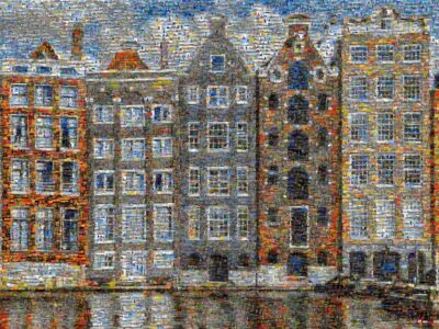 So quaint and unique. An example of Amsterdam's tilting homes.