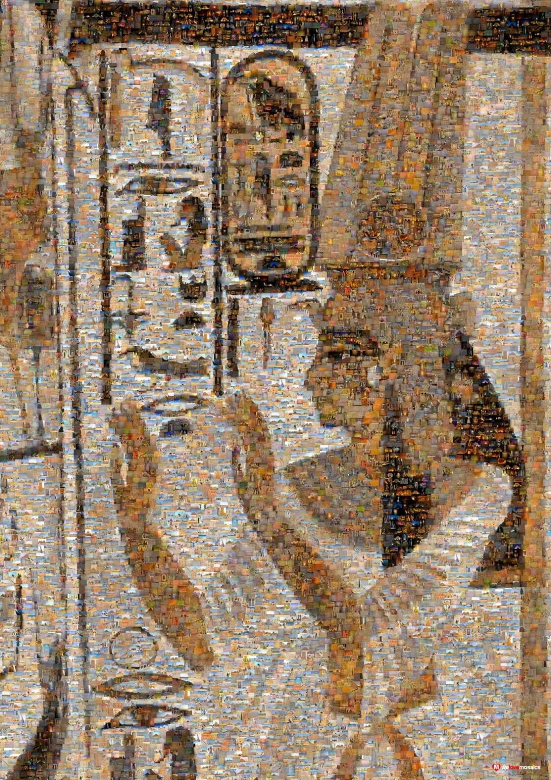 Hieroglyphs were rediscovered and deciphered after archaeologists found the Rosetta Stone. Amazing artwork!