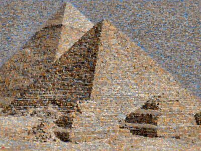 Picturesque view of the Pyramid complex. Their magnificence is undeniable.