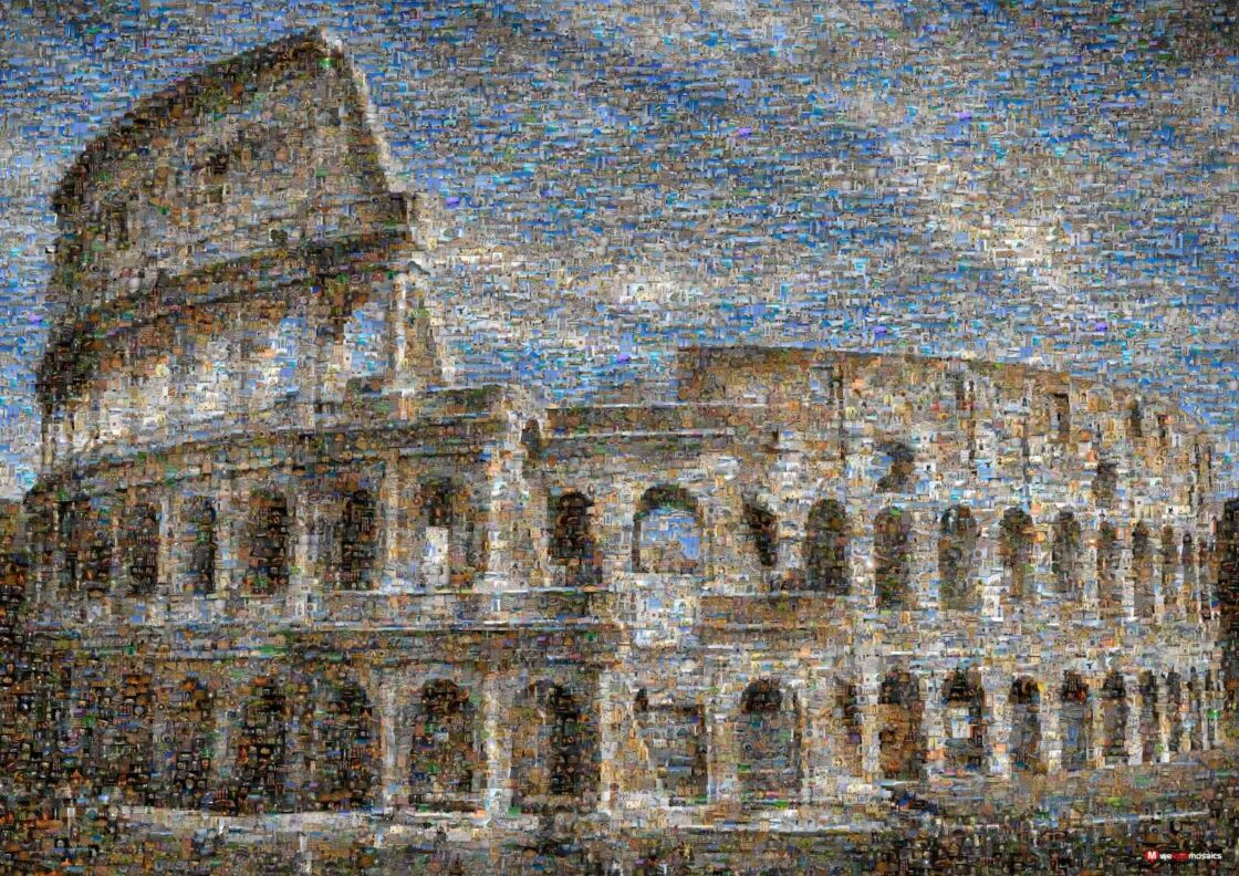 The Colosseum had a canvas ceiling to protect people from the sun. The machinery and cages were located beneath the arena.