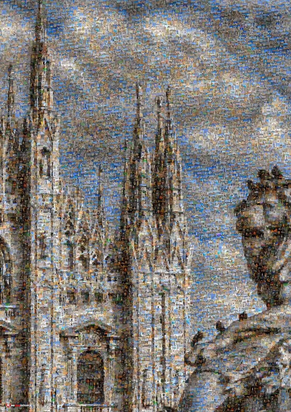 A beautiful church. Construction work on the Duomo of Milan probably began in 1386.