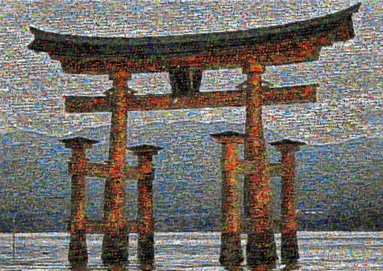 A torii is a traditional Japanese gate most commonly found at the entrance of a Shinto shrine.