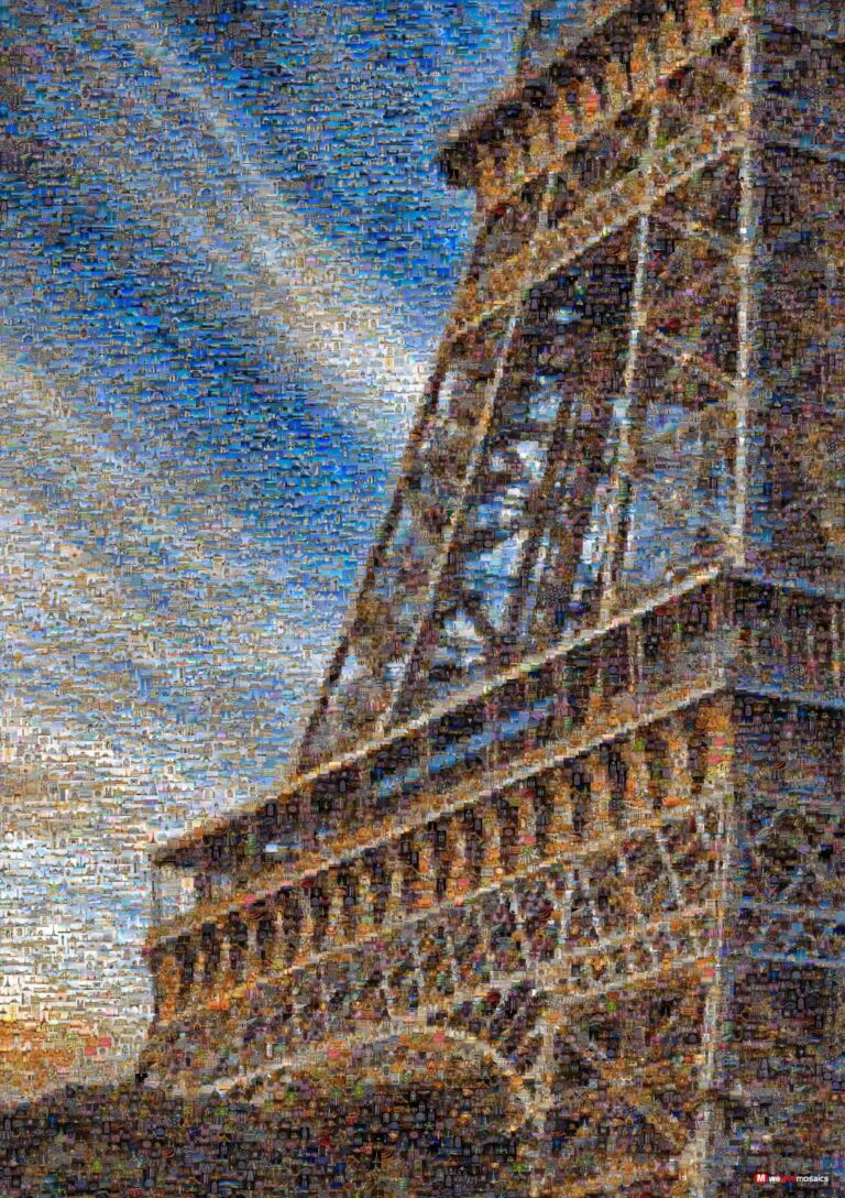 Several hundred workers spent two years assembling the framework of the iconic lattice tower.