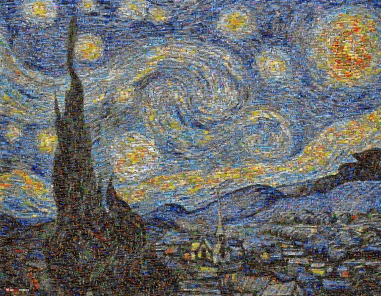 The beautiful canvas painting by Dutch Post-Impressionist painter Vincent van Gogh.